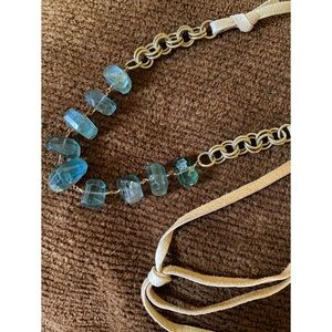 Green Fluorite Leather Cord Necklace